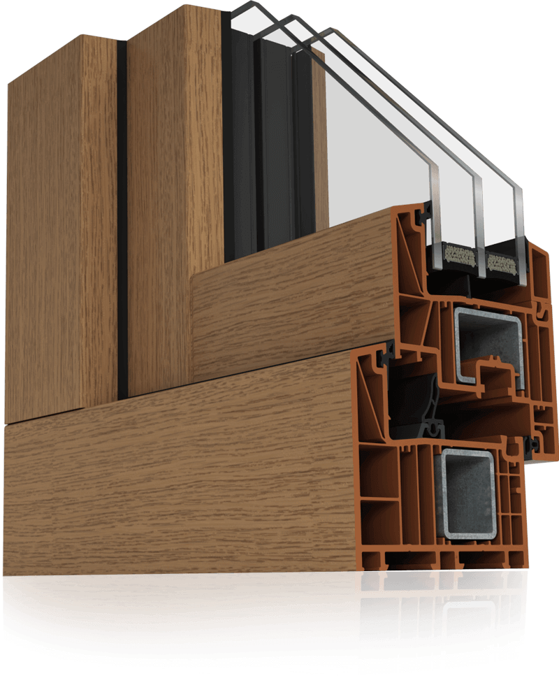 Profile PVC w systemie Wood Look.