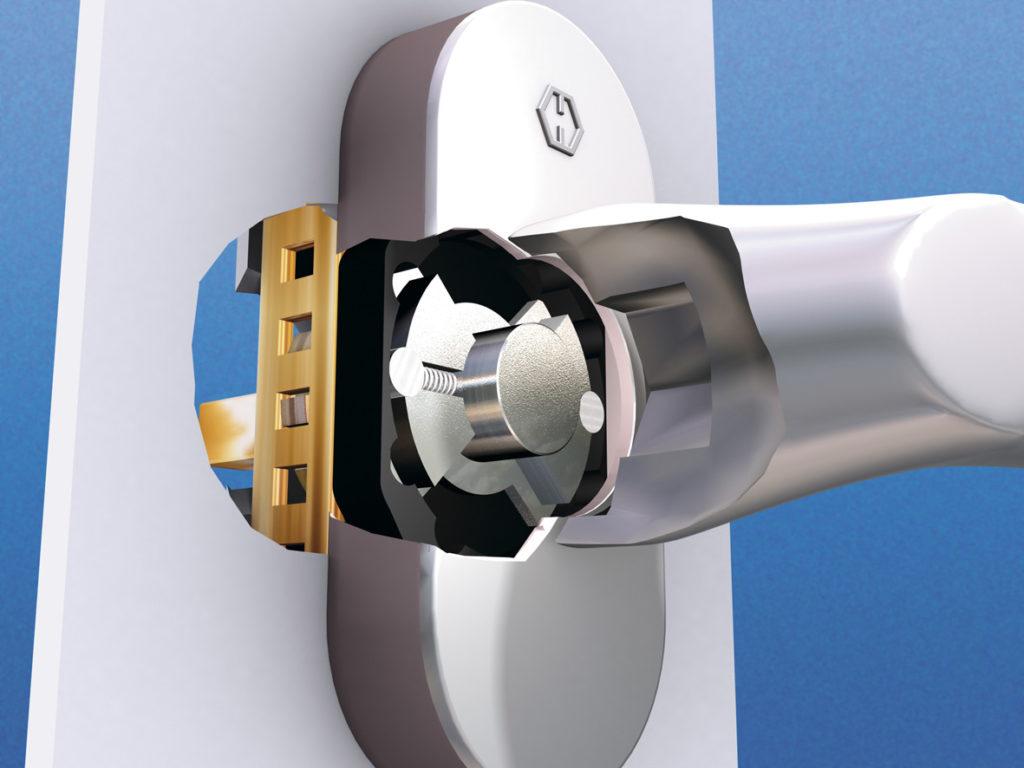 Klamka Hoppe wykorzystywana w pakietach bezpieczeństwa antywłamaniowego.