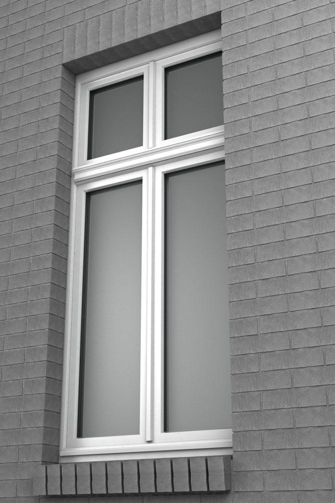 Smukłe, duże okna wykonywane dzięki specjalnym wzmocnieniom i wklejaniu szyb.