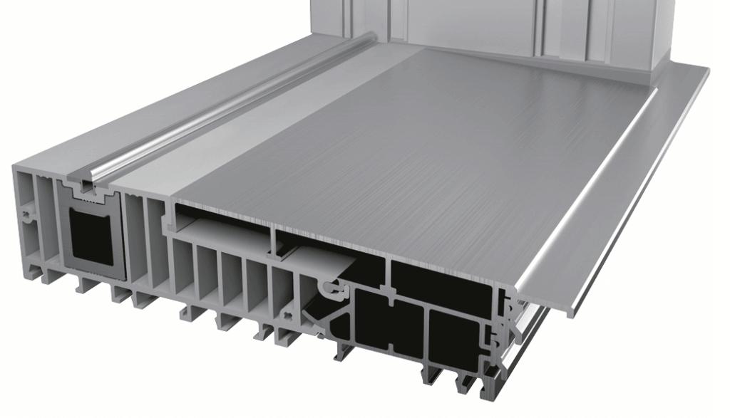 Komory w progu aluminiowym stosowanym w Patio HST.