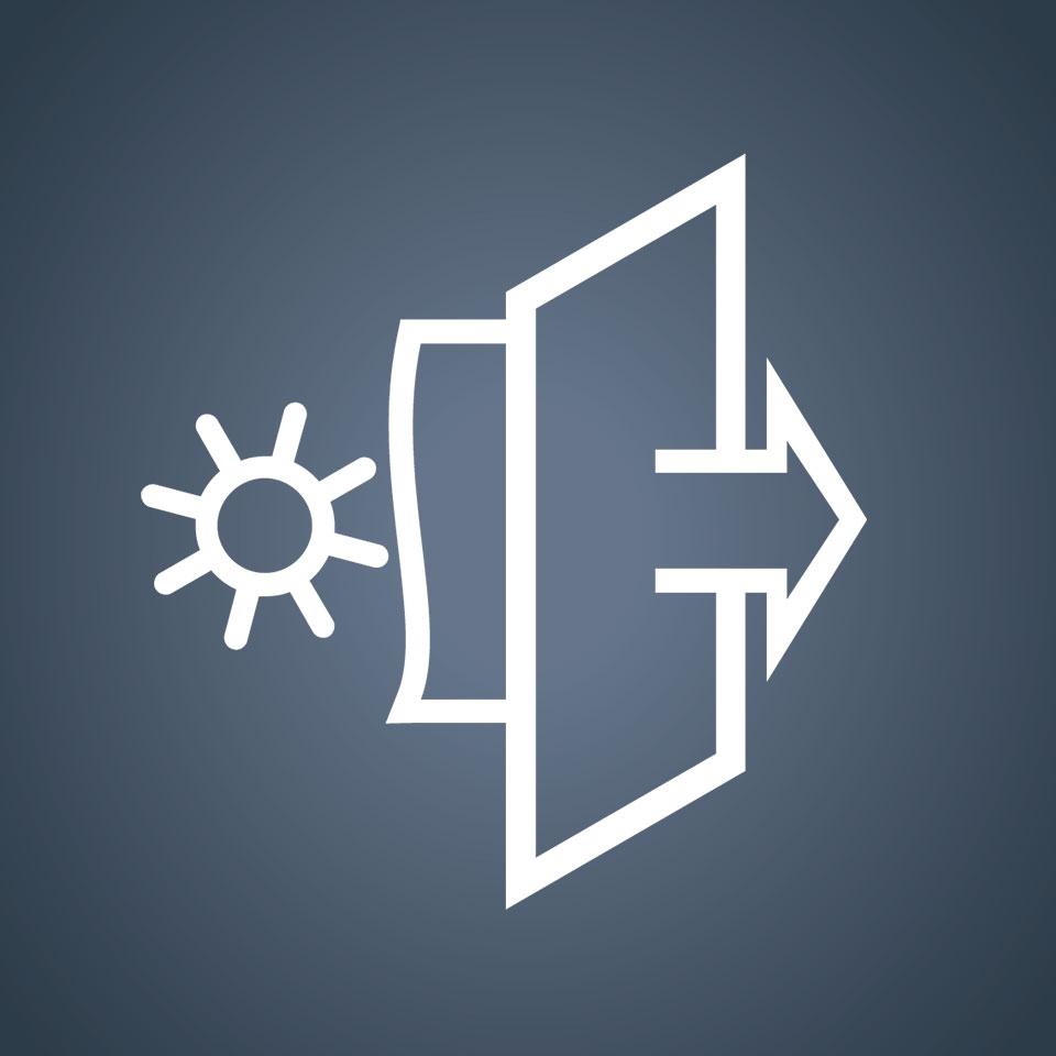 Trasmittanza di energia solare.