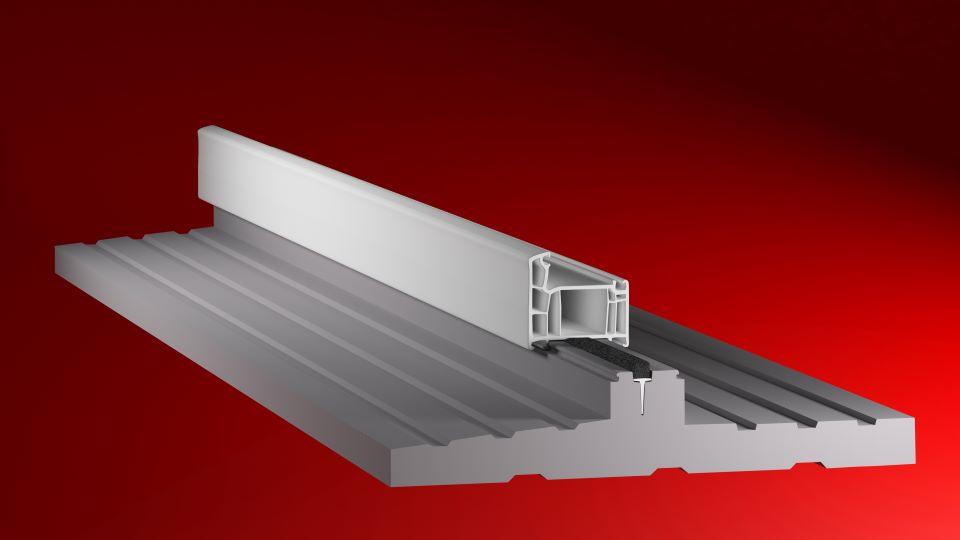 Ciepły profil podokienny XPS, który pozwala zmniejszyć ilość zużywanego ciepła.