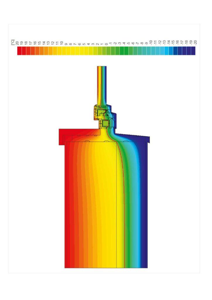 Izotermy na ciepłym profilu podokiennym XPS.