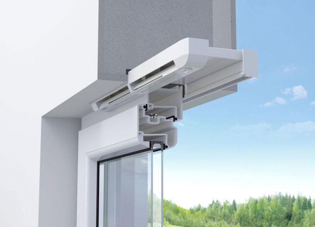 Nawiewnik AEROMAT flex, który montuje się bez uprzedniego frezowania szczelin.