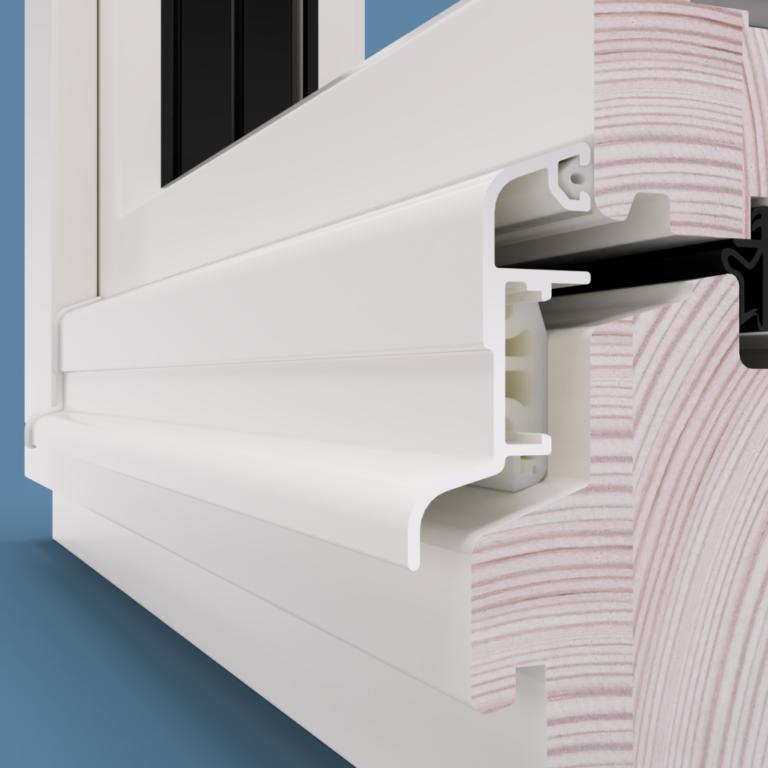 Okapniki do okien drewnianych zabezpieczają konstrukcję przed wnikaniem wody.