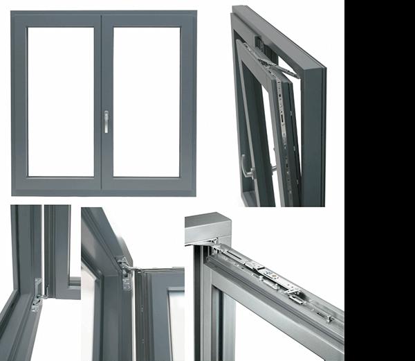 Ukryte okucia do okien drewnianych znajdują się w przestrzeni pomiędzy skrzydłem a ramą.