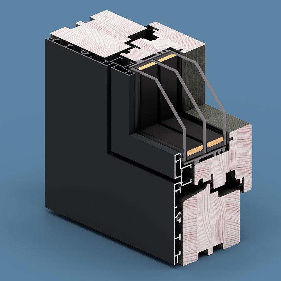 Okładziny Aluron - wariant Quadrat FB SF.
