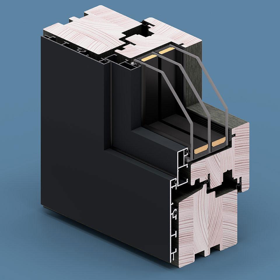Okładziny Aluron - wariant Quadrat SF.