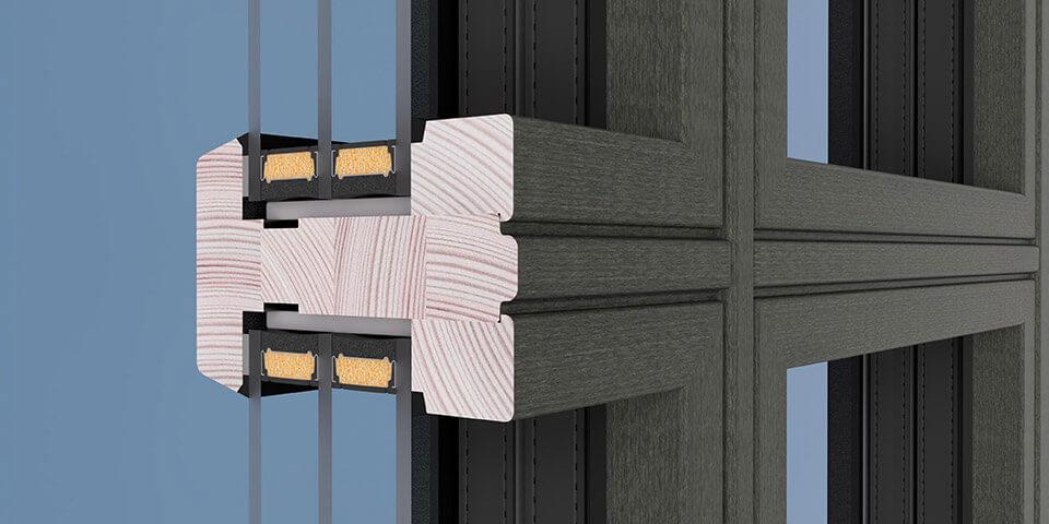 Drewniany szpros konstrukcyjny.