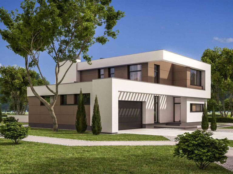 Dom w stylu nowoczesnym.