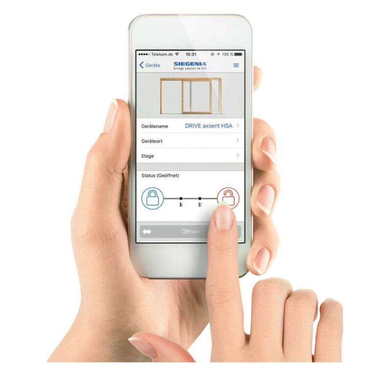 Motoryka Siegenia - możliwość obsługi przy użyciu dedykowanej aplikacji.