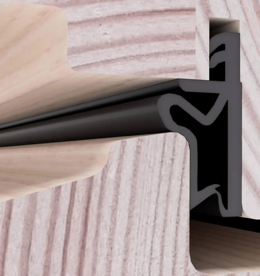 Umiejscowienie uszczelki do okien drewnianych.
