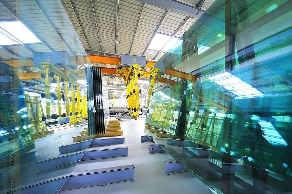Magazzino di vetro in MS più di WINDOWS.