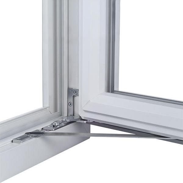Ukryte zawiasy w oknie.