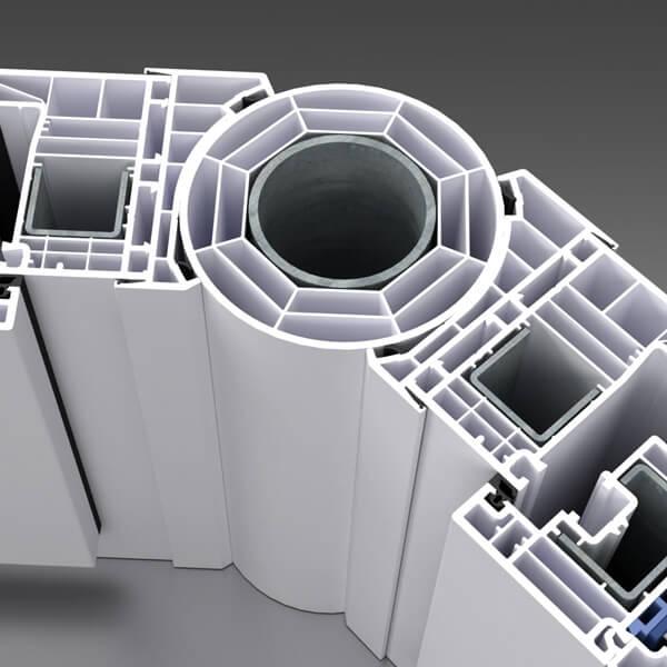 Łącznik rurowo-komorowy o zmiennym kącie łączenia, ze wzmocnieniem.