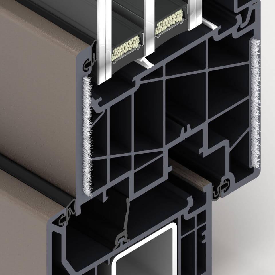 Włókno szklane - wzmocnienie w skrzydłach okien FORMA ThermoFibra.