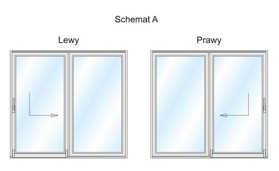 Schemat A - jeden z wariantów wykonania Patio PSK.