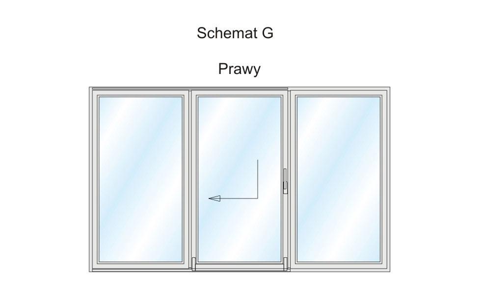Schemat G - jeden z wariantów wykonania Patio PSK.