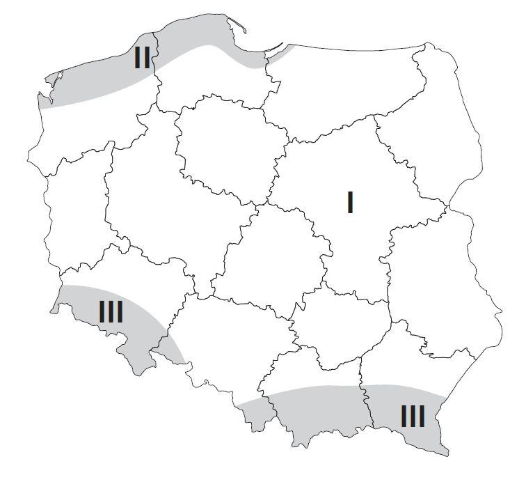 Strefy wiatrowe w Polsce.